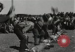 Image of Chopping and sawing contest Skytop Pennsylvania USA, 1949, second 11 stock footage video 65675023842