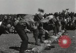 Image of Chopping and sawing contest Skytop Pennsylvania USA, 1949, second 12 stock footage video 65675023842