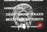 Image of deep snow Denver Colorado USA, 1933, second 2 stock footage video 65675023843