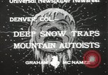 Image of deep snow Denver Colorado USA, 1933, second 3 stock footage video 65675023843