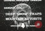 Image of deep snow Denver Colorado USA, 1933, second 5 stock footage video 65675023843