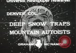 Image of deep snow Denver Colorado USA, 1933, second 6 stock footage video 65675023843
