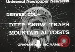 Image of deep snow Denver Colorado USA, 1933, second 7 stock footage video 65675023843