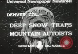 Image of deep snow Denver Colorado USA, 1933, second 8 stock footage video 65675023843