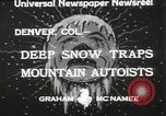 Image of deep snow Denver Colorado USA, 1933, second 9 stock footage video 65675023843