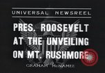 Image of Franklin Roosevelt Mount Rushmore South Dakota USA, 1936, second 3 stock footage video 65675023850