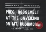 Image of Franklin Roosevelt Mount Rushmore South Dakota USA, 1936, second 6 stock footage video 65675023850