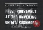 Image of Franklin Roosevelt Mount Rushmore South Dakota USA, 1936, second 8 stock footage video 65675023850