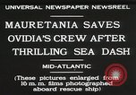 Image of Mauretania Atlantic Ocean, 1930, second 8 stock footage video 65675023905