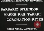 Image of Haile Selassie coronation Addis Ababa Abyssinia, 1930, second 8 stock footage video 65675023906