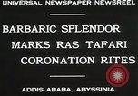 Image of Haile Selassie coronation Addis Ababa Abyssinia, 1930, second 10 stock footage video 65675023906