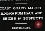 Image of Coastal guards Boston Massachusetts USA, 1930, second 1 stock footage video 65675023912