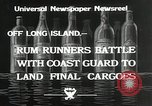 Image of Coast Guard pursue bootlegger in prohibition Long Island New York USA, 1933, second 2 stock footage video 65675023920