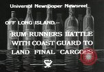 Image of Coast Guard pursue bootlegger in prohibition Long Island New York USA, 1933, second 3 stock footage video 65675023920