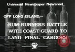 Image of Coast Guard pursue bootlegger in prohibition Long Island New York USA, 1933, second 4 stock footage video 65675023920