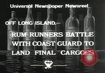 Image of Coast Guard pursue bootlegger in prohibition Long Island New York USA, 1933, second 5 stock footage video 65675023920