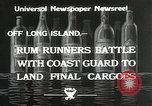 Image of Coast Guard pursue bootlegger in prohibition Long Island New York USA, 1933, second 7 stock footage video 65675023920
