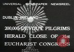 Image of 31st Eucharist Congress Dublin Ireland, 1932, second 1 stock footage video 65675023922