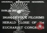 Image of 31st Eucharist Congress Dublin Ireland, 1932, second 3 stock footage video 65675023922