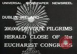 Image of 31st Eucharist Congress Dublin Ireland, 1932, second 4 stock footage video 65675023922