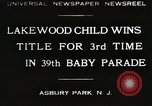 Image of 39 Baby Parade Asbury Park New Jersey USA, 1930, second 1 stock footage video 65675023925