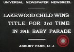 Image of 39 Baby Parade Asbury Park New Jersey USA, 1930, second 2 stock footage video 65675023925