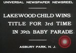Image of 39 Baby Parade Asbury Park New Jersey USA, 1930, second 4 stock footage video 65675023925