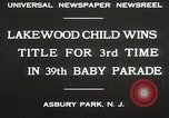 Image of 39 Baby Parade Asbury Park New Jersey USA, 1930, second 5 stock footage video 65675023925