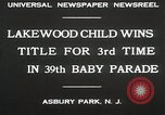 Image of 39 Baby Parade Asbury Park New Jersey USA, 1930, second 6 stock footage video 65675023925