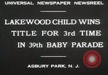 Image of 39 Baby Parade Asbury Park New Jersey USA, 1930, second 9 stock footage video 65675023925