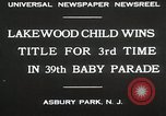 Image of 39 Baby Parade Asbury Park New Jersey USA, 1930, second 10 stock footage video 65675023925