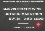 Image of Ontario Marathon Swim Toronto Ontario Canada, 1930, second 2 stock footage video 65675023926