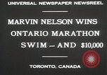 Image of Ontario Marathon Swim Toronto Ontario Canada, 1930, second 4 stock footage video 65675023926