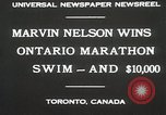 Image of Ontario Marathon Swim Toronto Ontario Canada, 1930, second 5 stock footage video 65675023926