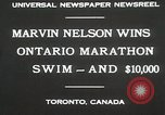 Image of Ontario Marathon Swim Toronto Ontario Canada, 1930, second 6 stock footage video 65675023926