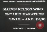 Image of Ontario Marathon Swim Toronto Ontario Canada, 1930, second 7 stock footage video 65675023926