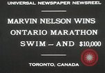 Image of Ontario Marathon Swim Toronto Ontario Canada, 1930, second 8 stock footage video 65675023926