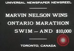 Image of Ontario Marathon Swim Toronto Ontario Canada, 1930, second 9 stock footage video 65675023926