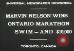 Image of Ontario Marathon Swim Toronto Ontario Canada, 1930, second 10 stock footage video 65675023926