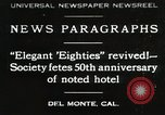 Image of 50th Anniversary Del Monte California USA, 1930, second 1 stock footage video 65675023927