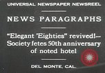 Image of 50th Anniversary Del Monte California USA, 1930, second 2 stock footage video 65675023927