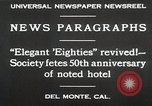 Image of 50th Anniversary Del Monte California USA, 1930, second 7 stock footage video 65675023927