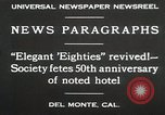 Image of 50th Anniversary Del Monte California USA, 1930, second 8 stock footage video 65675023927