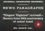 Image of 50th Anniversary Del Monte California USA, 1930, second 11 stock footage video 65675023927