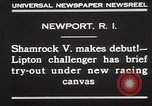Image of Shamrock V Newport Rhode Island USA, 1930, second 4 stock footage video 65675023928