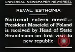 Image of President Moscicki Reval Esthonia, 1930, second 1 stock footage video 65675023929