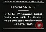 Image of USS Wyoming passing under Brooklyn Bridge New York City USA, 1930, second 1 stock footage video 65675023930