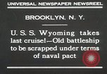 Image of USS Wyoming passing under Brooklyn Bridge New York City USA, 1930, second 2 stock footage video 65675023930