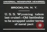 Image of USS Wyoming passing under Brooklyn Bridge New York City USA, 1930, second 3 stock footage video 65675023930