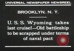 Image of USS Wyoming passing under Brooklyn Bridge New York City USA, 1930, second 4 stock footage video 65675023930